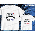 Camiseta Video Game Pai E Filho(a) Kit Com Duas Camisetas