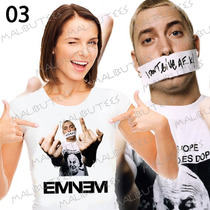 Camisas Eminem Rap Rapper Banda Cantor Baby Look Camisetas