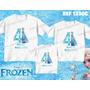 Kit Camiseta Personalizada Aniversario Infantil Festa Frozen
