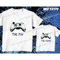 Camiseta Video Game Jogos Pai E Filho(a) Kit Com 2 Camisetas