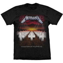 Camiseta Metallica Master Of Puppets Stamp