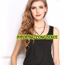 Camiseta Regata Social Feminina Importada Pronta Entrega