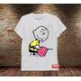 Camisa Masculina Charlie Brown Banksy Engraçada Snoopy Peanu