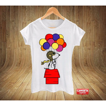 Camiseta Blusinha Baby Snoopy Balão Peanuts Schulz Beagle