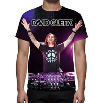 Camisa, Camiseta Pop David Guetta - Estampa Total