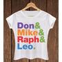 Camiseta Feminina Babylook Don Mike Tartarugas Ninja Filme