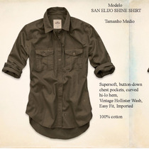 Hollister Abercrombie Blusa San Elijo Shine Shirt M P/entreg