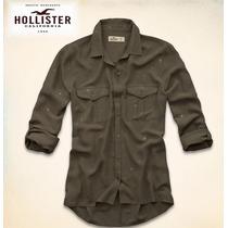Hollister Abercrombie Blusa Seascape Chifon Shirt P/entreg
