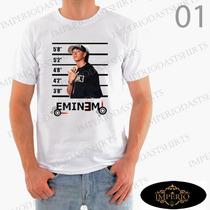 Camiseta Eminem Cantor Rap Masculina, Baby Look E Infantil