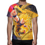Camisa, Camiseta Anime Goku Super Saiyajin 3 - Estampa Total