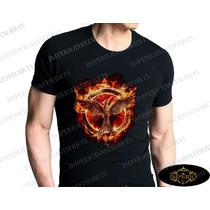Camiseta Preta Jogos Vorazes A Esperança The Hunger Games
