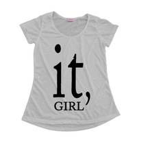 Camisetas Personalizadas Blusas Femininas T-shirt It Girl