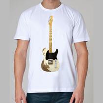 Camiseta Rock - Guitarra, Telecaster, Rolling Stones, Fender