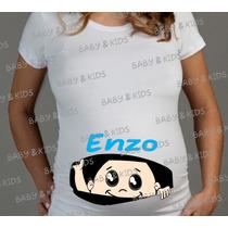 Camiseta Gravida Gestante - Personalize O Nome Do Bebê
