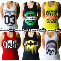 10 Regatas T-shirt Fitness - Mickey - Yankees - Jack Daniel