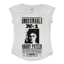 Tshirt Feminina Em Tecido Flamê - Harry Potter Procurado