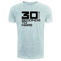 Camiseta 30 Seconds To Mars - Cinza - Rock - Balada