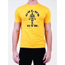 Camiseta Golds Gym Amarela - Musculação - Fitness - Maromba