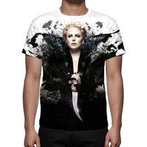 Camisa, Camiseta Branca De Neve E O Caçador - Estampa Total