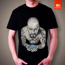 Camiseta Breaking Bad Serie Seriado Walter White Tv Camisa