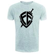 Camiseta Fé - Andre Valadão - Exclusiva - Cinza - Gospel