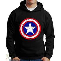 Moletons Super Heróis Capitão America Blusa Capitão America