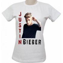 Camisa Baby Look Justin Bieber Feminina (vários Modelos)