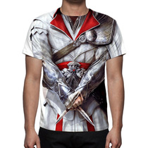 Camisa, Camiseta Uniforme Assassins Creed Ezio Auditore