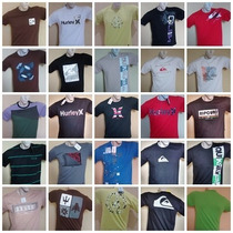 Kit 50 Camisetas Original Quiksilver Hurley Billabong Oakley