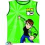 Regata Infantil Camiseta Peppa Ben 10 Todos Os Temas