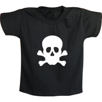 Camiseta Infantil Caveira Masculina Rock N´ Roll - Laço