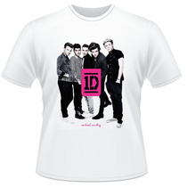 Camiseta Infantil One Direction Frente E Verso Banda Camisa