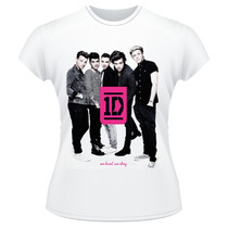 Baby Look One Direction Frente Verso Banda Camiseta Feminina
