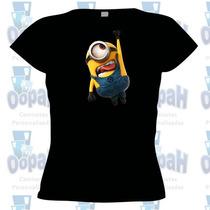 Camiseta Personalizada Minions Baby Look Promoção