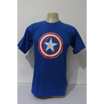 Camiseta Capitão America Super Heróis Super Man Flash Batman