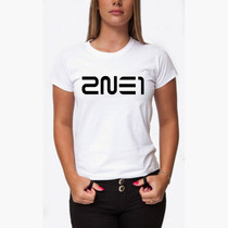 Camiseta 2ne1 K-pop Baby Look Feminina