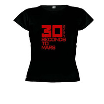 Camisetas Baby Look Banda 30 Seconds To Mars - Feminino