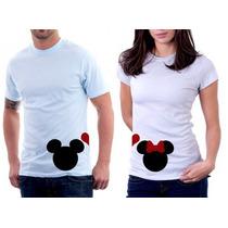 Camisetas Para Casal Mickey E Minnie
