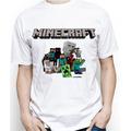 Camiseta Infantil Personalizada Do Minecraft