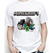 Camiseta Infantil Personalizada Do Minecraft