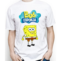 Camiseta Adulto Personalizada Do Bob Esponja