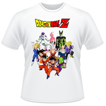 Camiseta Infantil Dragon Ball Z Anime Desenho Camisa