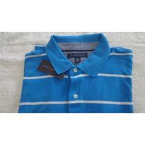 Camisa Polo Tommy Hilfiger Tam Gg Cor Azul Com Listras Bran