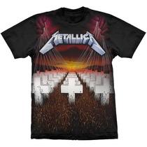 Camiseta De Banda - Metallica - Master Of Puppets - Stamp