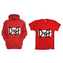 Combo Blusa Com Camiseta Duff