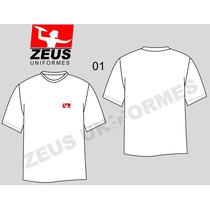 Camiseta, Bordado, Uniforme, Promoção, Varias Cores