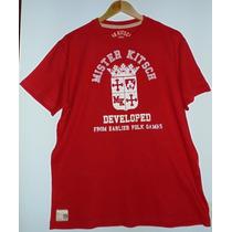 Camiseta Mr Kitsch Vermelha, Nova E Original Compre Já A Sua