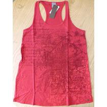 Camiseta Regata Feminina Estampada Meia Malha Flamê