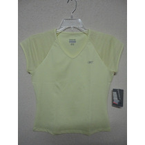 Camiseta Reebok Feminina Amarela Original Nova Tam M Esporte