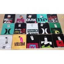 Kit 3 Camisetas Original Quiksilver Hurley Rip Curl Bilabong
